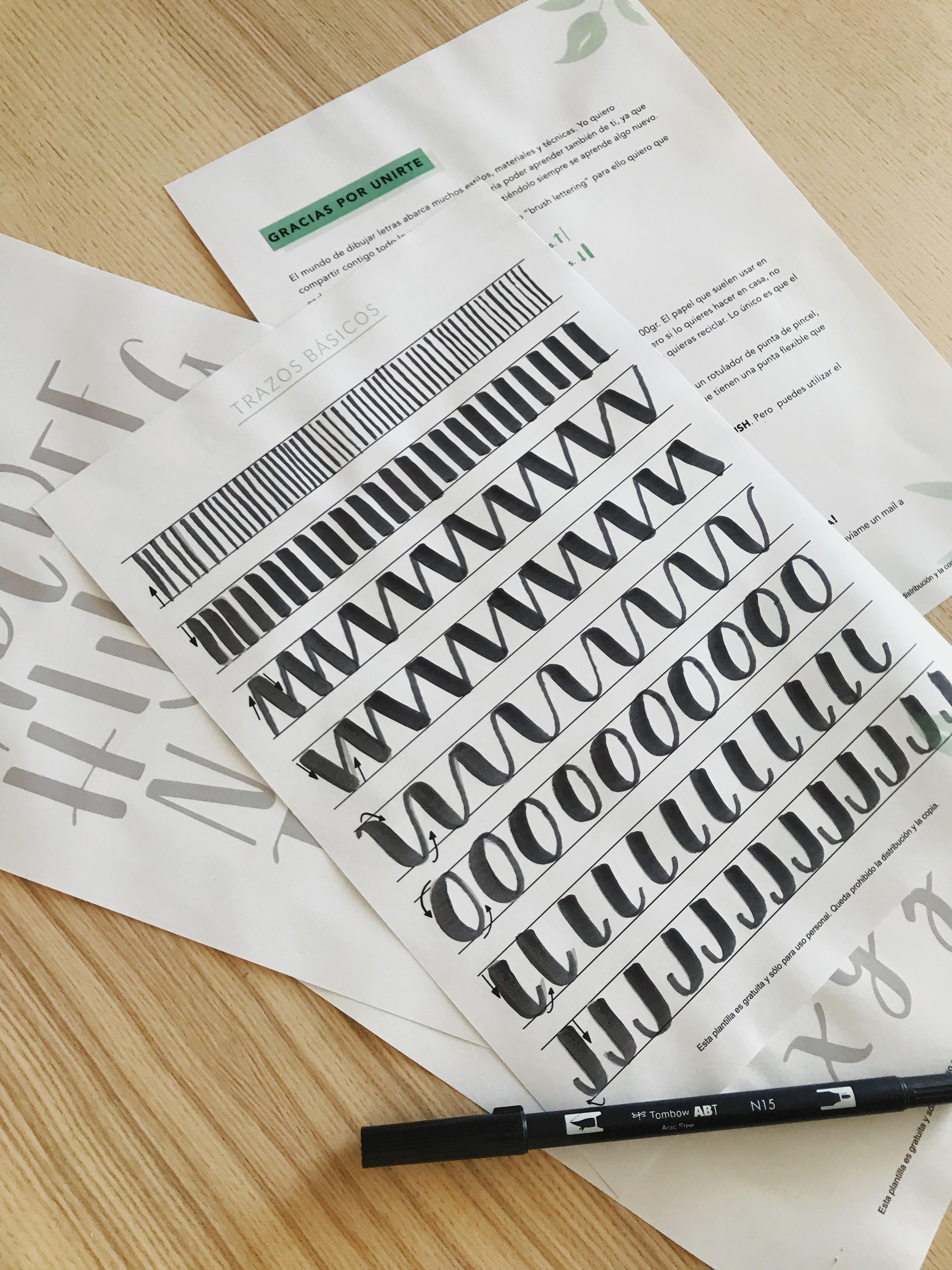 Guía iniciación a lettering