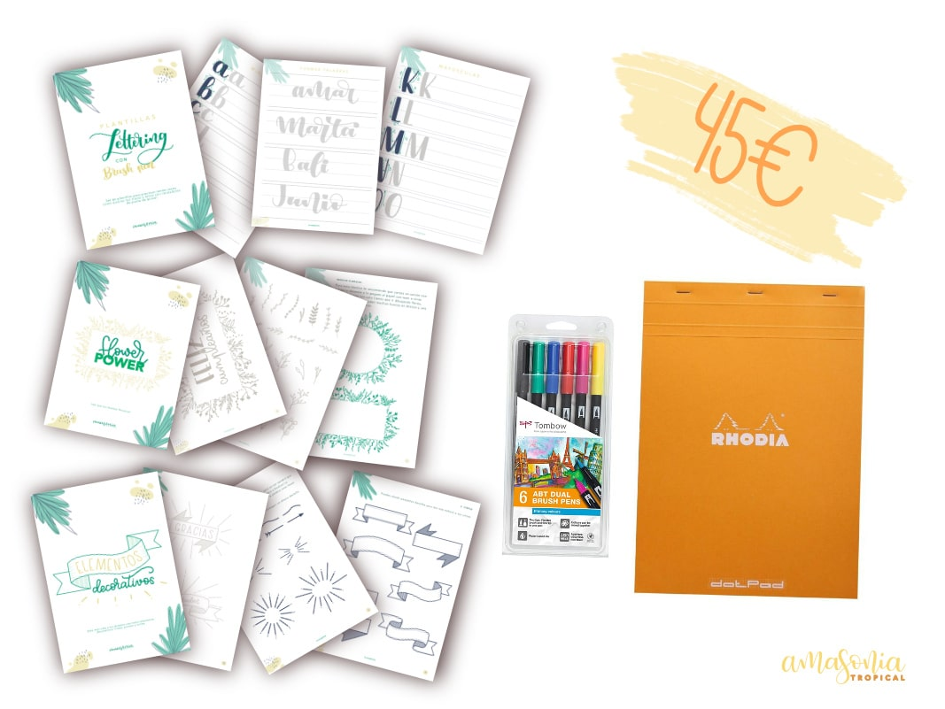 Kit de lettering creativo