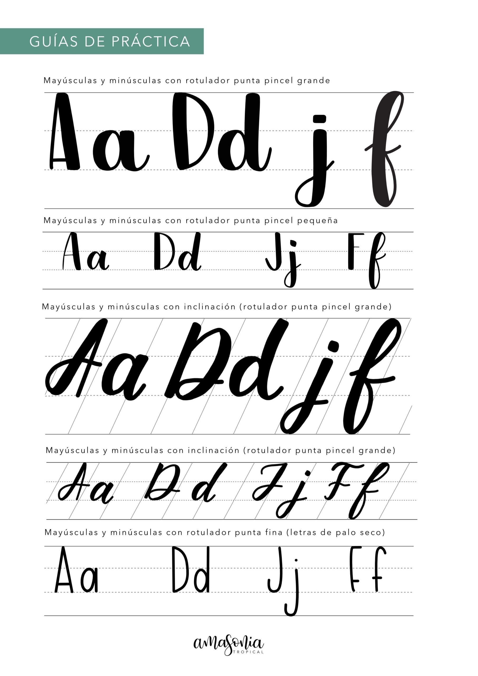 Guía de lettering