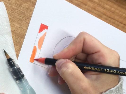 Postal de lettering para el día de San Valentín